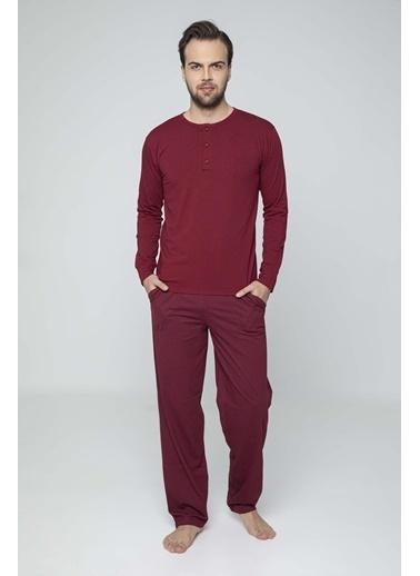 Aydoğan Erkek Modal Kırmızı Pijama Takımı Renkli
